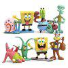 Cute 8-in-1 Plastic Animation Character Model Toy - MULTI-A