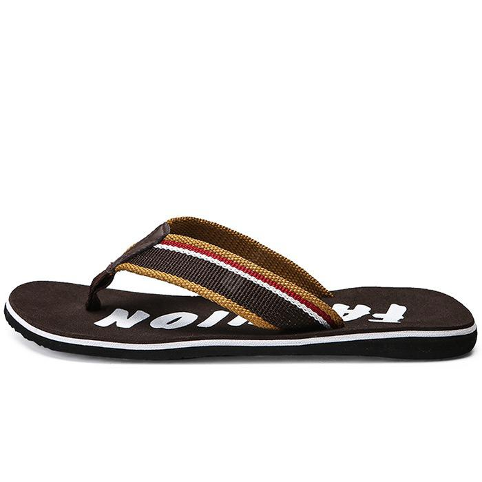 Male Simple Large Size Flip-flop Slippers