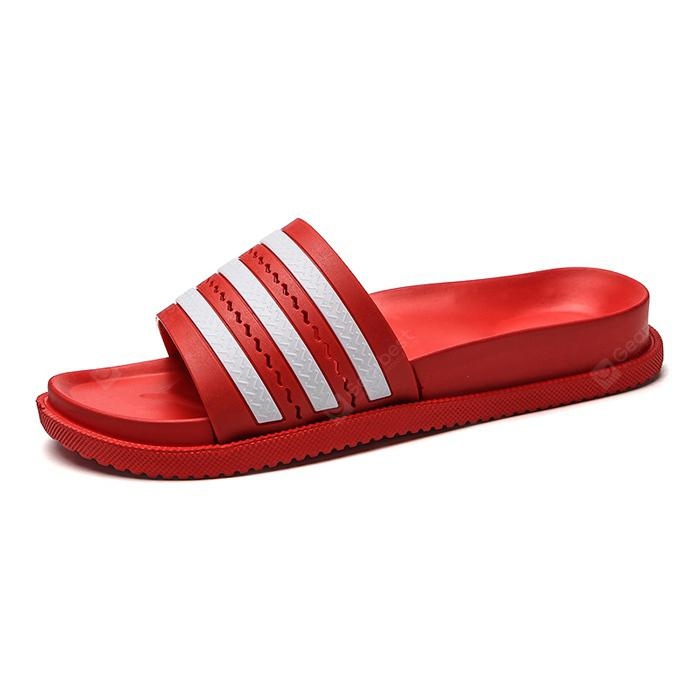 Simple Male Striped Casual Slippers