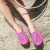 Fashion Beach Breathable Mesh Hole Slippers - HOT PINK