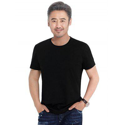 GEORGE TOMMY Men Non-deformed Round Neck T-shirt 2017 spring new classic lined dark lines lingge men s casual long sleeved shirt