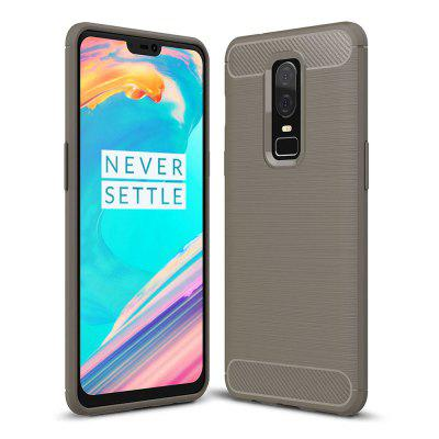 ASLING Carbon Fiber Back Protective Case for OnePlus 6