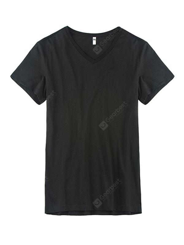GEORGE TOMMY Men Leisure Non-deformed V-neck T-shirt