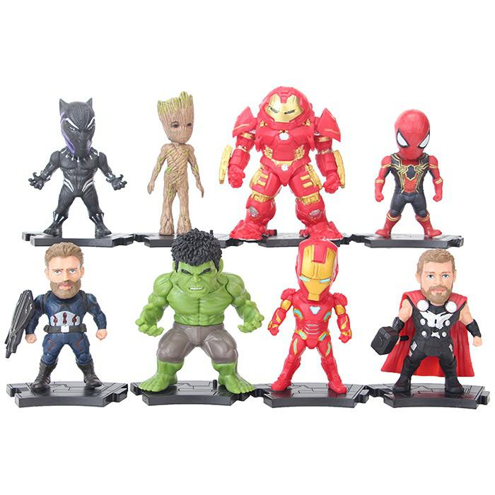 Great Fighter Hero Figure Model Ornament Gift Toy 8pcs - MULTI-A
