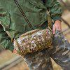 Durable Wear-resistant Men Canvas Waist Bag - WOODLAND CAMOUFLAGE