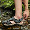 Men Leisure Hollow-out Leather Adjustable Sandals - PEACOCK BLUE