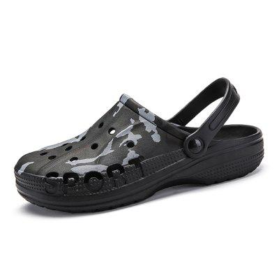 Men Stylish Camouflage Anti-slip Dual-use Hollow Sandals
