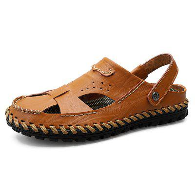 Stylish Handcrafted Anti-slip Dual-use Leather Sandals