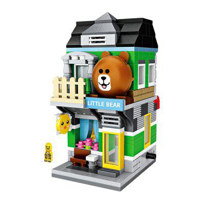 LOZ Bear Shop Mini Street View Building Blocks Toy