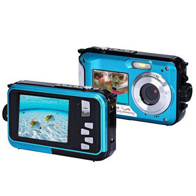 Digital Camera Waterproof 24MP MAX 1080P Dual Screen Digital 16X Zoom Camcorder