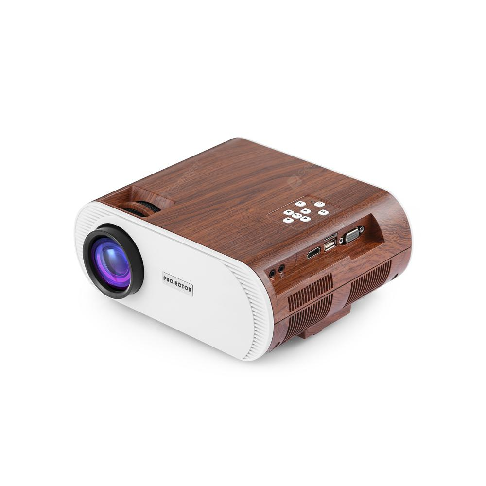 YT - 890 LCD Projector Support 1080P - WOOD US PLUG