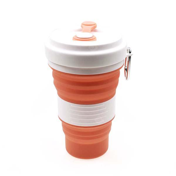 Outdoor Sports Portable Silicone 550ml Folding Cups
