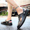 Stylish Handcrafted Anti-slip Dual-use Leather Sandals - BLACK