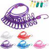 Travel Portable Laundry Clothes Clip Hang Rope - PINK