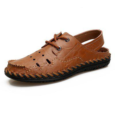 Men Trendy Soft Breathable Anti-slip Leather Sandals