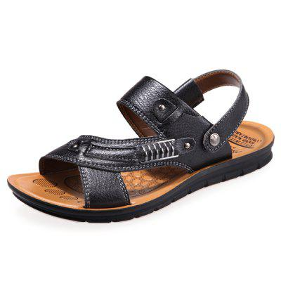 Chic Male Anti-slip Leather Sandals