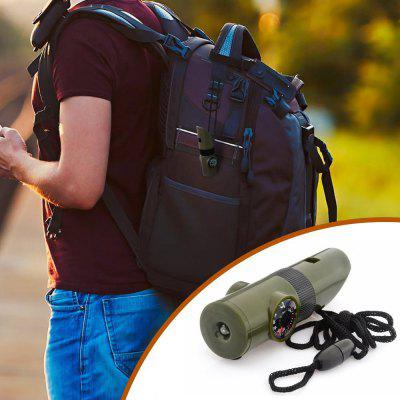 7 in 1 Military Outdoor Survival Whistle Compass