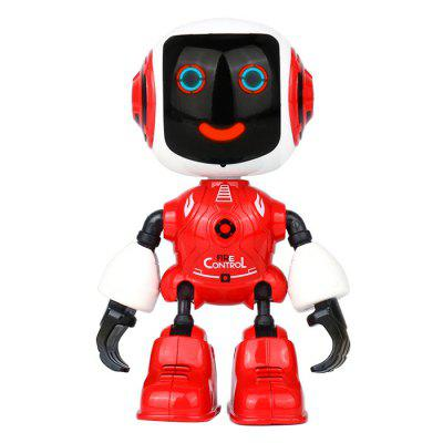 Mini Alloy Robot Toy Ornaments Modell Touch to Speak / Sing