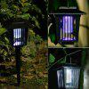 Solar LED Square Plastic Mosquito Killer Light - BLACK