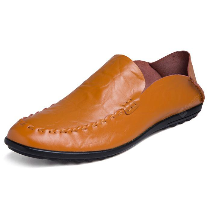 Men Leisure Soft Slip-on Leather Flat Shoes