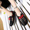 Men Trendy Anti-slip Hollow-out Adjustable Sandals - BLACK