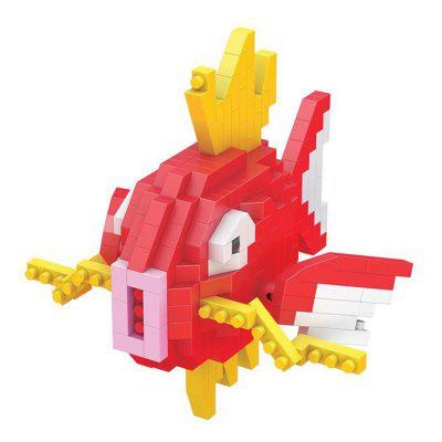 Creative Building Blocks Lovely Fish Cartoon Model Kids Toy