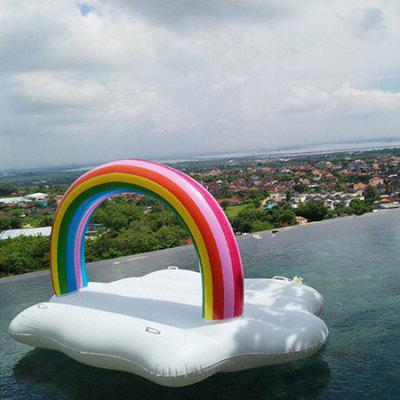 Portable Inflatable Rainbow Cloud Floating Row