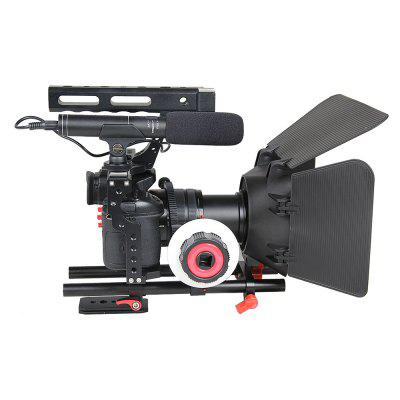 A7 DSLR Camera Rig Cage Set with Matte Box Follow Focus