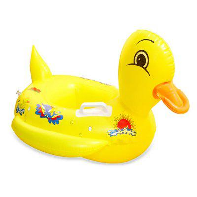 Children Inflatable Duck Swimming Handle Seat Ring