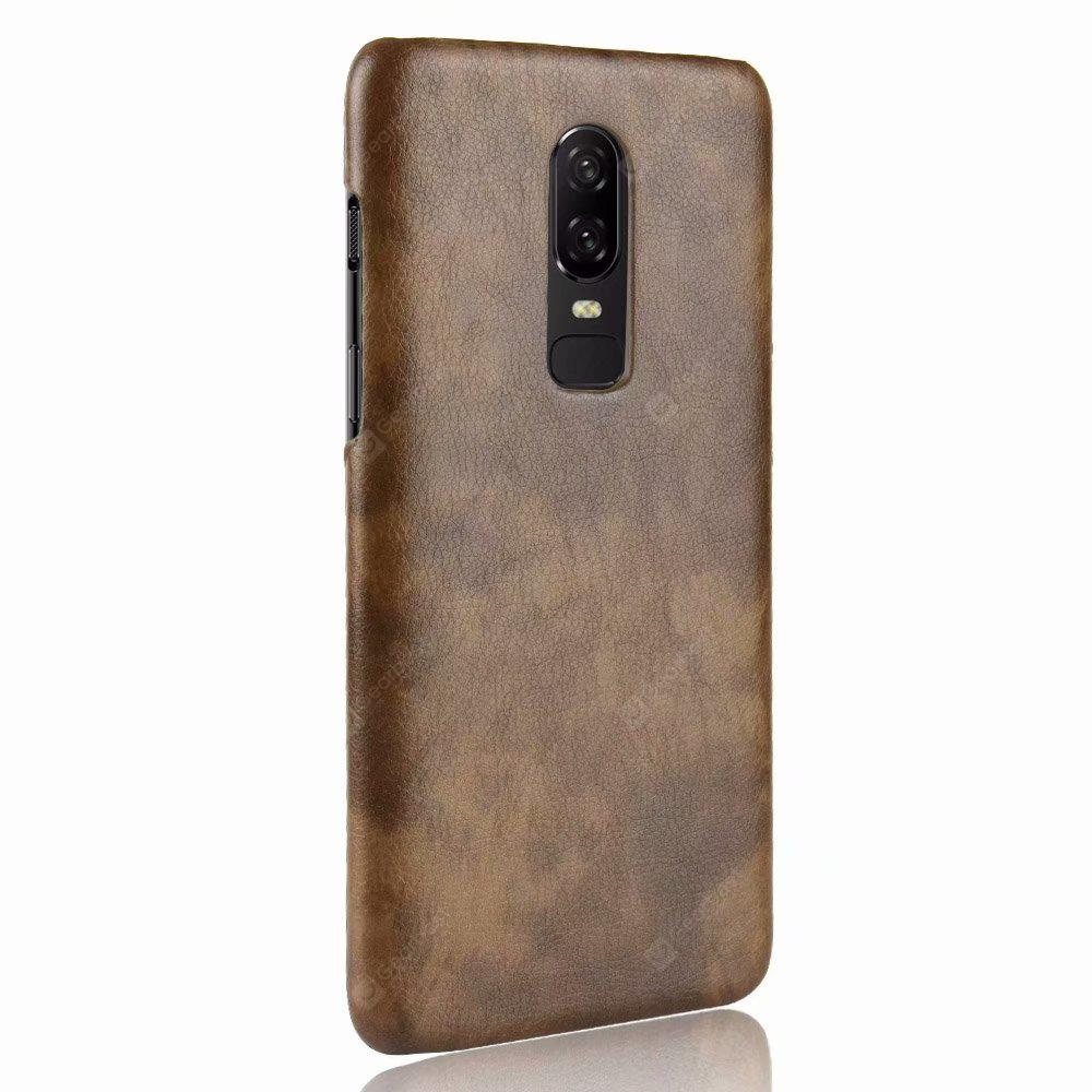 Retro Lichee Pattern Back Protective Case for Oneplus 6