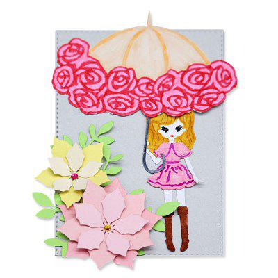 DIY Rose Umbrella Pattern Design Metal Cutting Dies