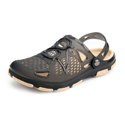 Men Trendy Hollow-out Anti-slip Dual-use Sandals