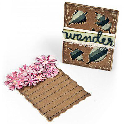 DIY Flower Leaf Border Album Decoration Carbon Steel Cutting Die 2pcs