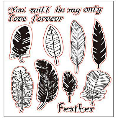 DIY Feather Sheet Transparent Scrapbooking Silicone Seal Stamp albert alcherbad kronos the infinity 18