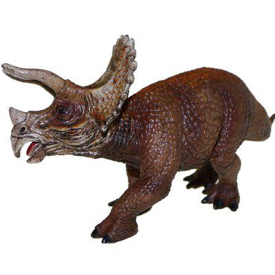 Triceratops PVC Solid Animal Model Desk Ornament 1pc