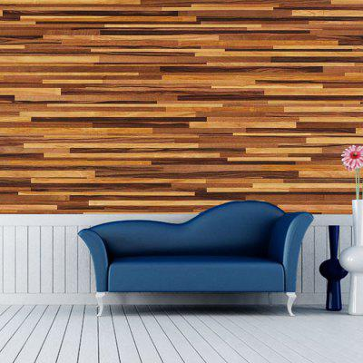 Modern Wall Sticker with Wood Grain Pattern 1PC