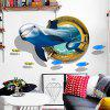 3D Wall Sticker with Dolphin Pattern 1PC - NAVY BLUE
