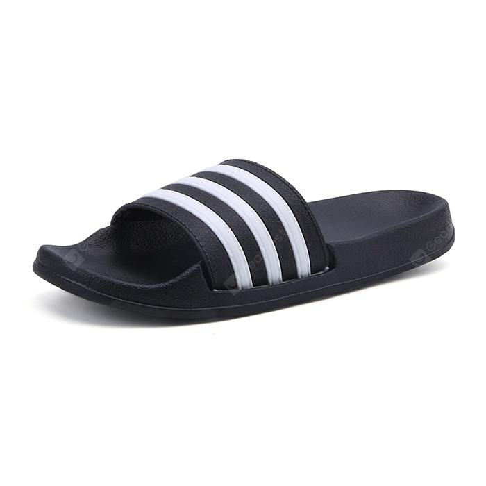 Leisure Stripe Anti-slip Home Slippers for Couple