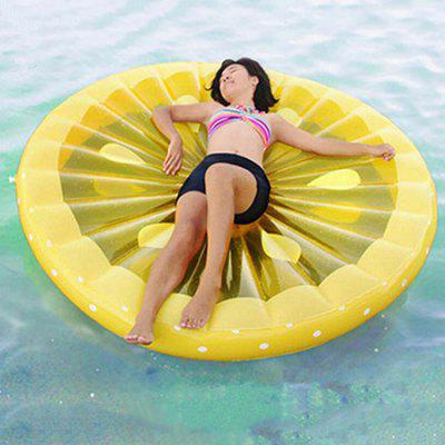 Inflatable Lemon Floating Row for Summer Beach Holiday giant inflatable water floating sea park games fun summer toys inflatable saturn with beam summer pool beach fun
