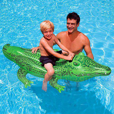 Inflatable Crocodile Floating Seat Swimming Raft with Handle