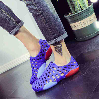 Male Plastic Hollow-out Casual Beach Shoes