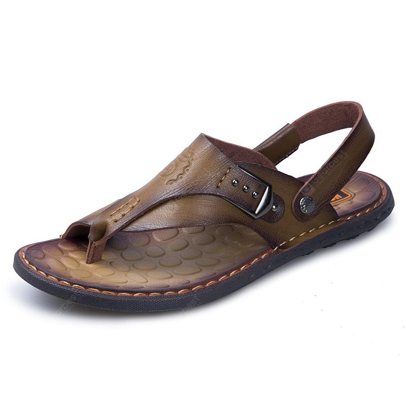 Male Leather Flip-flop Slippers