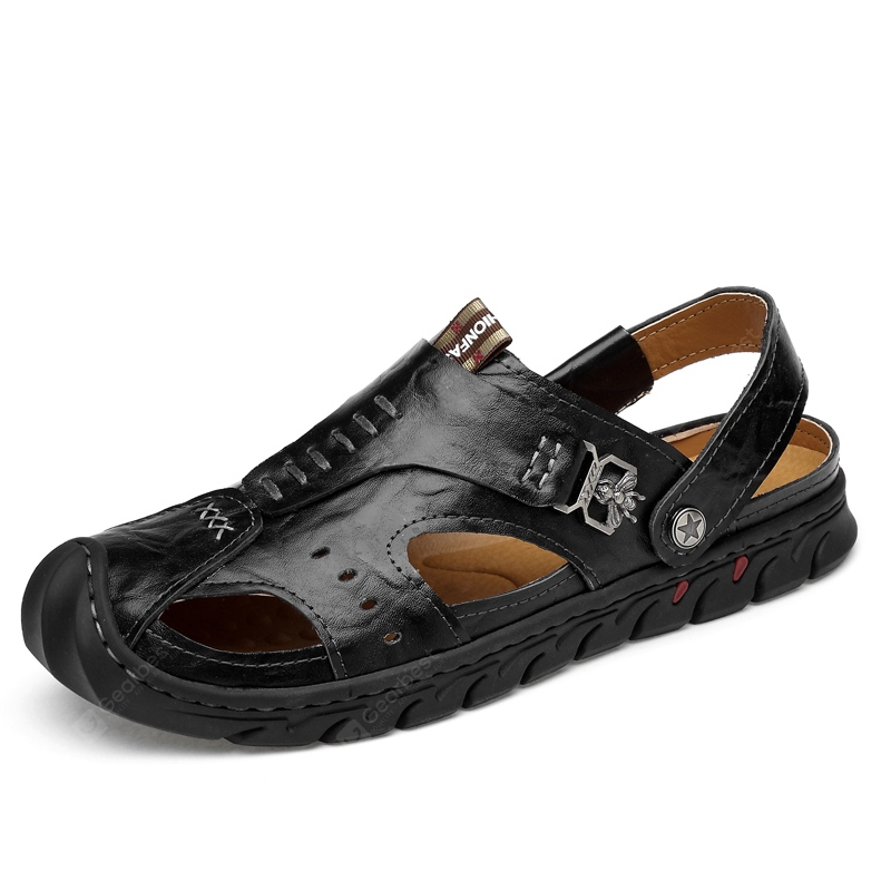 Male Hollow-out Dual-use Sandals Slippers