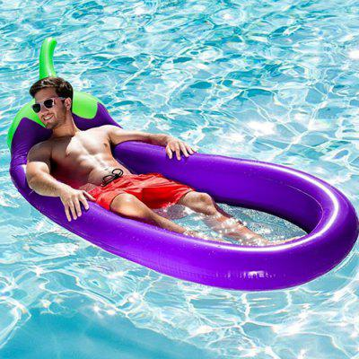 Inflatable Eggplant Floating Row for Summer Beach Holiday giant inflatable water floating sea park games fun summer toys inflatable saturn with beam summer pool beach fun