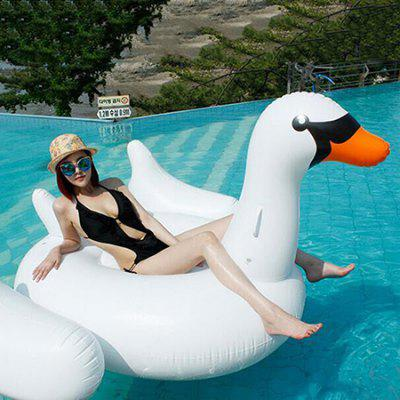 Inflatable White Swan Floating Row for Summer Beach Holiday giant inflatable water floating sea park games fun summer toys inflatable saturn with beam summer pool beach fun
