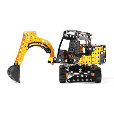 Alloy Assembly Engineering Vehicle Model DIY Building Block classic mars mission mt101 drilling vehicle building block mini astronaut figures fighter lepine bricks 7366 toys gift children