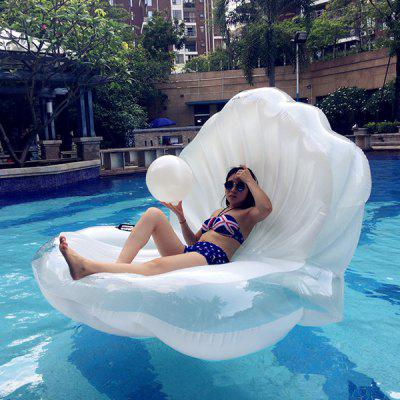Inflatable Seashell Floating Row Raft for Beach Holiday swimming ring angel wing inflatable floating bed pool party floating row