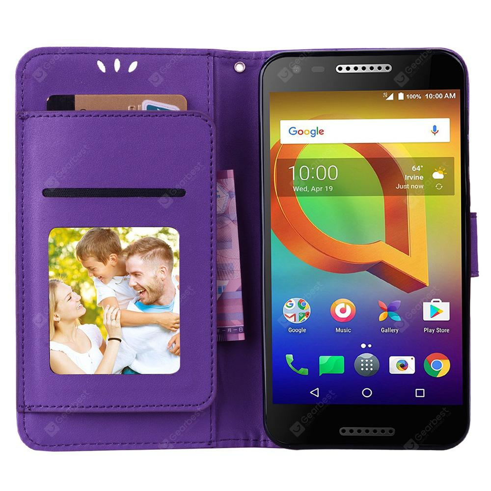 innovative design 49c00 ac26a Flip Wallet Protective Case with Stand for Alcatel A30