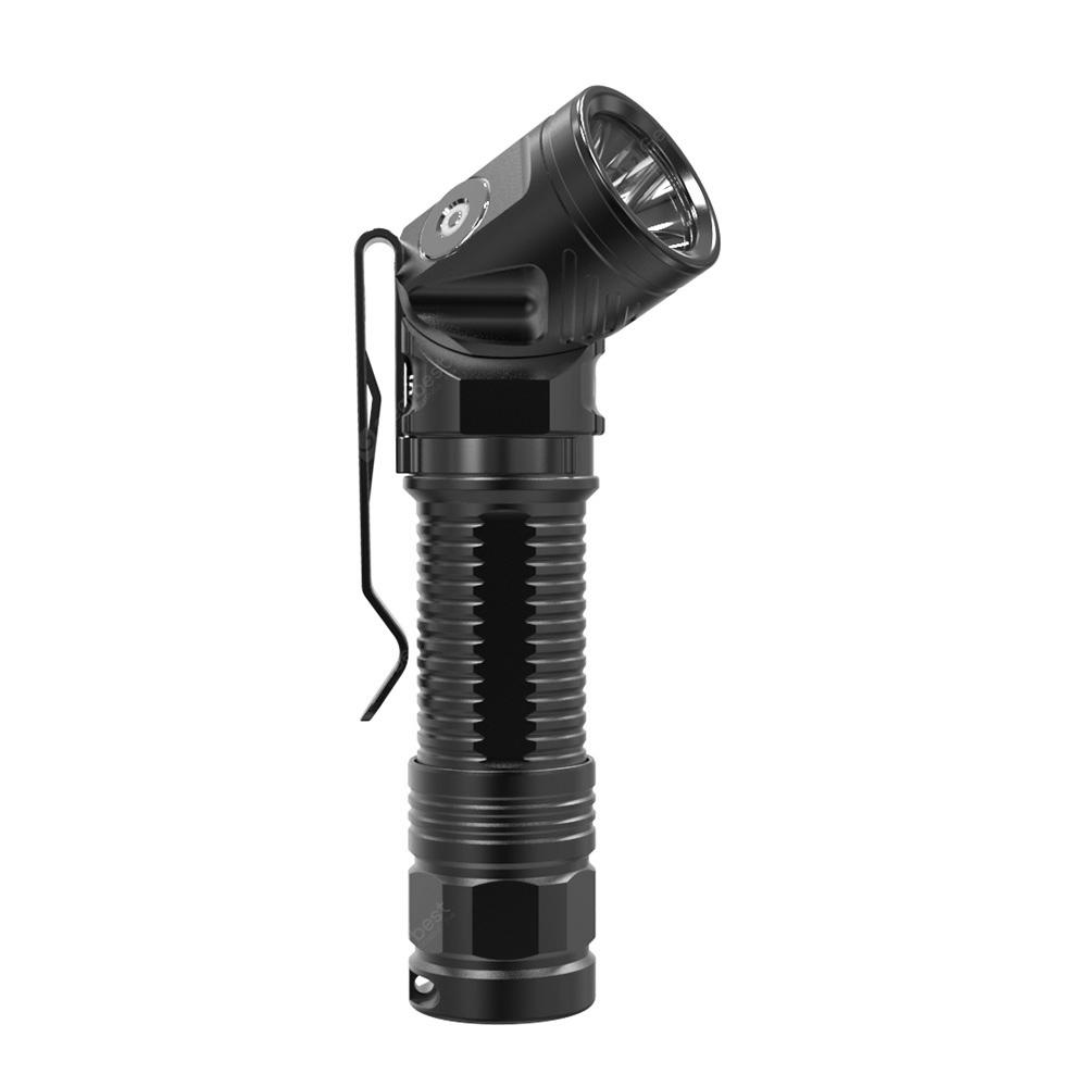 ROFIS R2 700LM Tail Magnetic USB Rechargeable Flashlight - BLACK