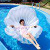 Inflatable Seashell Floating Row Raft for Beach Holiday - TRANSPARENT